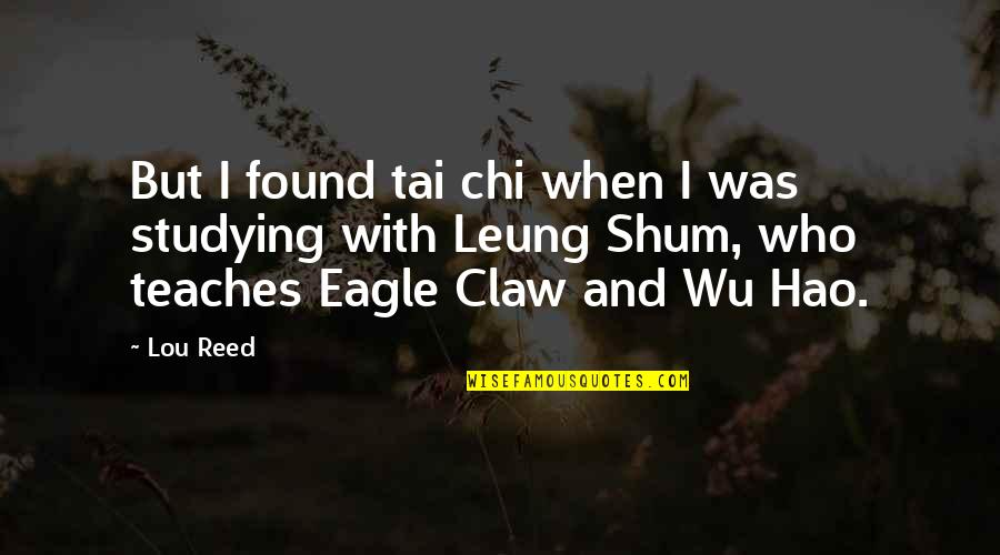 Chi Chi Quotes By Lou Reed: But I found tai chi when I was
