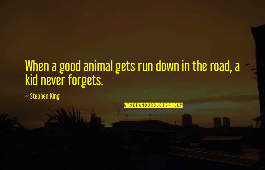 Chicken Funny Quotes By Stephen King: When a good animal gets run down in