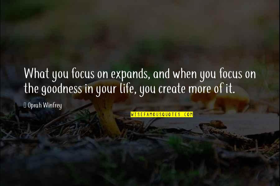 Chief Bromden Hallucination Quotes By Oprah Winfrey: What you focus on expands, and when you