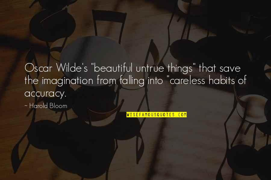 """Chief Guest Speech Quotes By Harold Bloom: Oscar Wilde's """"beautiful untrue things"""" that save the"""