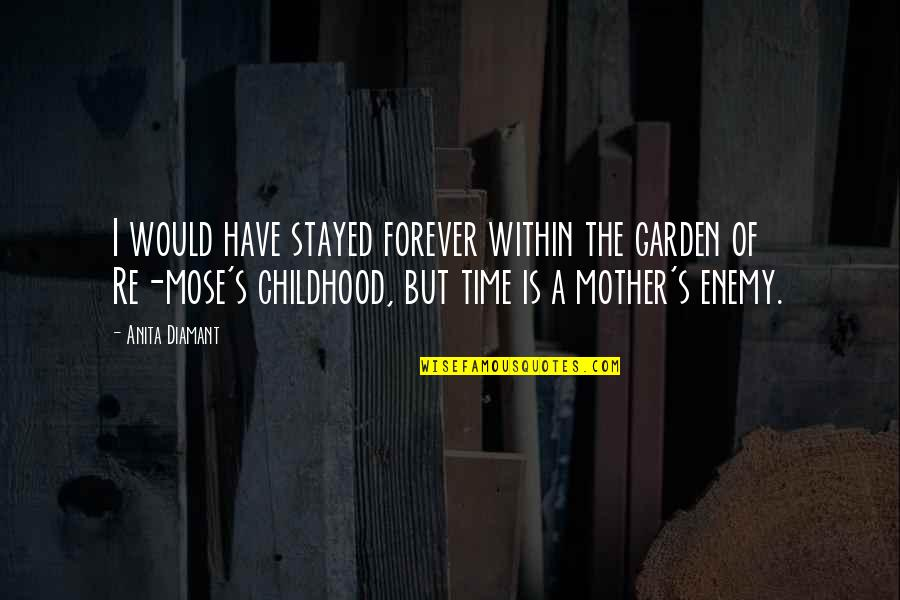 Childhood Innocence Quotes By Anita Diamant: I would have stayed forever within the garden