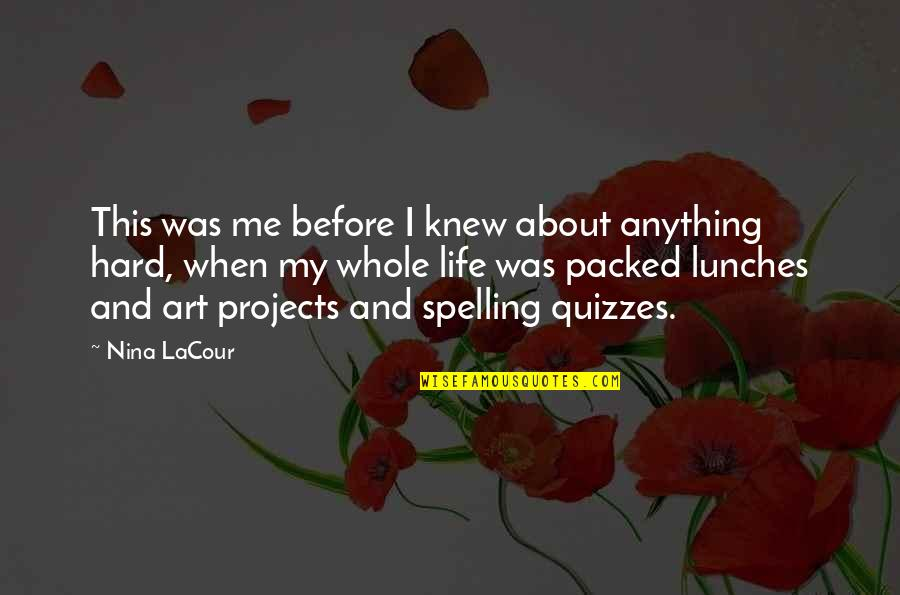 Childhood Innocence Quotes By Nina LaCour: This was me before I knew about anything