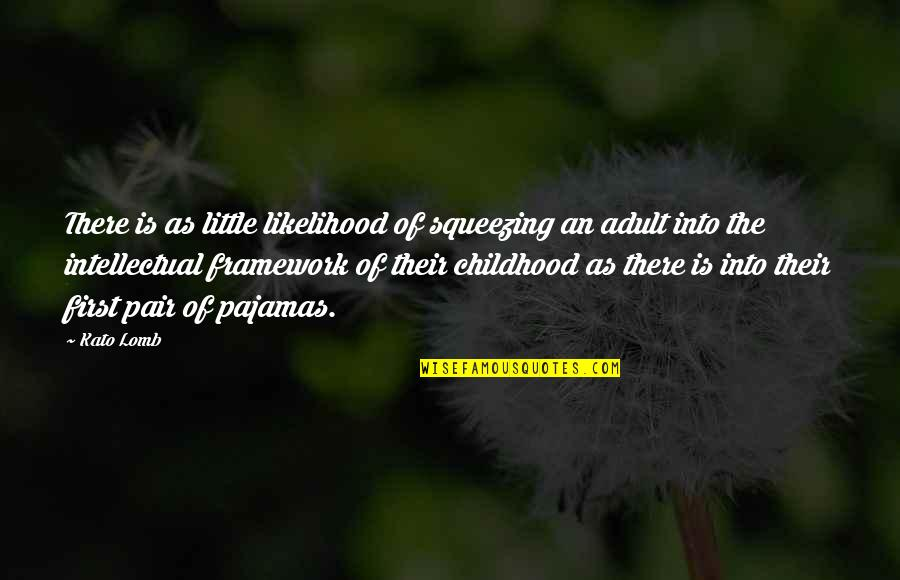 Childhood Learning Quotes By Kato Lomb: There is as little likelihood of squeezing an