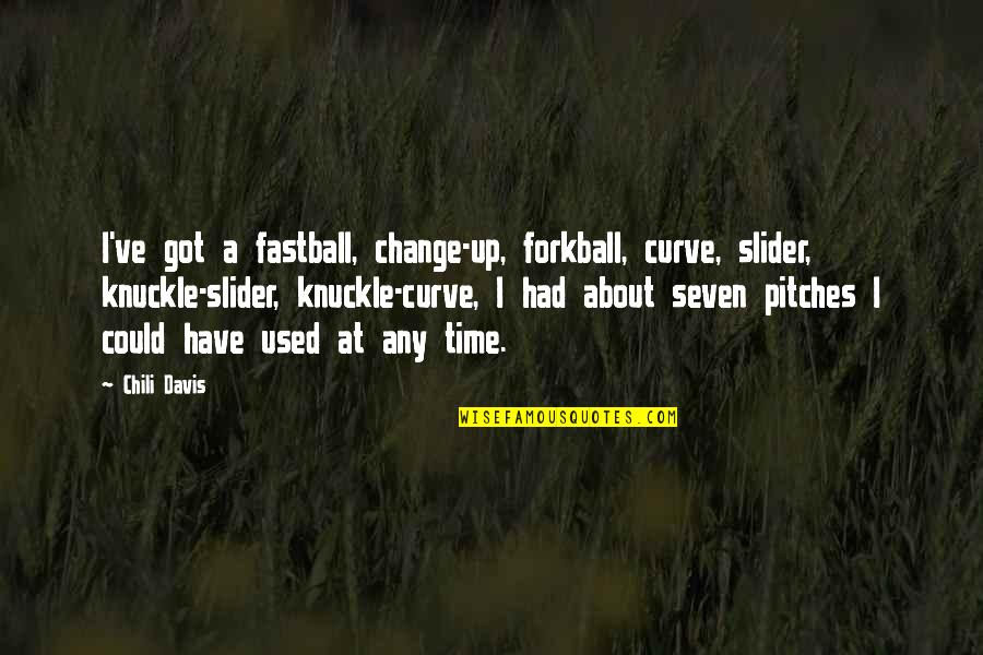Chili's Quotes By Chili Davis: I've got a fastball, change-up, forkball, curve, slider,