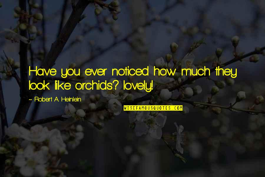 Chocolate Quotes Quotes By Robert A. Heinlein: Have you ever noticed how much they look