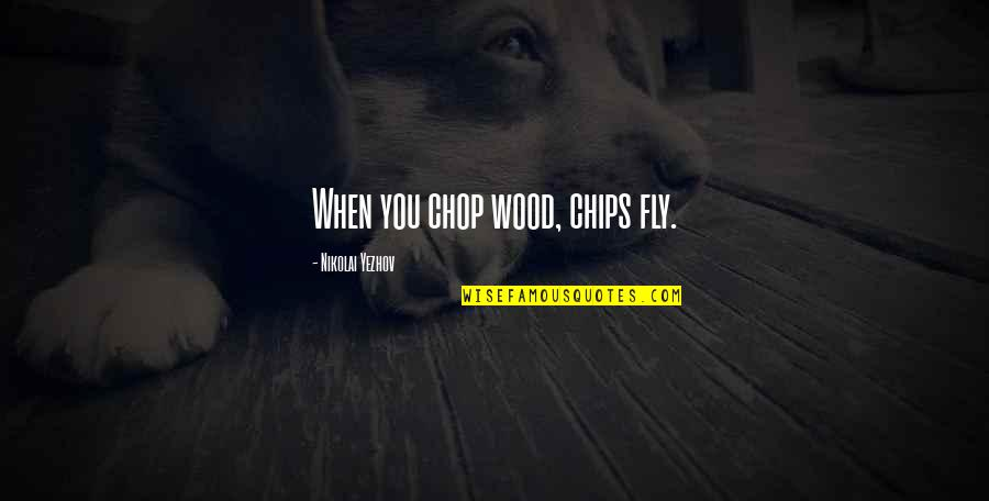 Chop Wood Quotes By Nikolai Yezhov: When you chop wood, chips fly.