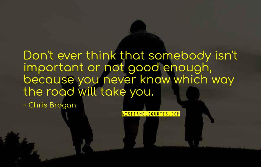 Chris Brogan Quotes By Chris Brogan: Don't ever think that somebody isn't important or