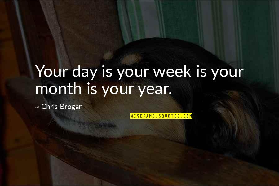 Chris Brogan Quotes By Chris Brogan: Your day is your week is your month