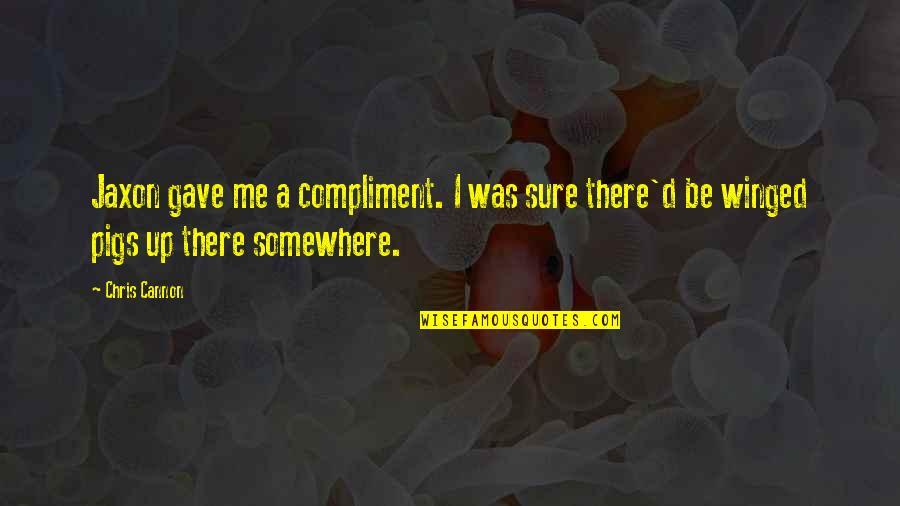 Chris D'elia Quotes By Chris Cannon: Jaxon gave me a compliment. I was sure