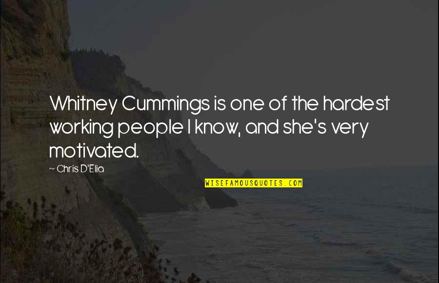 Chris D'elia Quotes By Chris D'Elia: Whitney Cummings is one of the hardest working