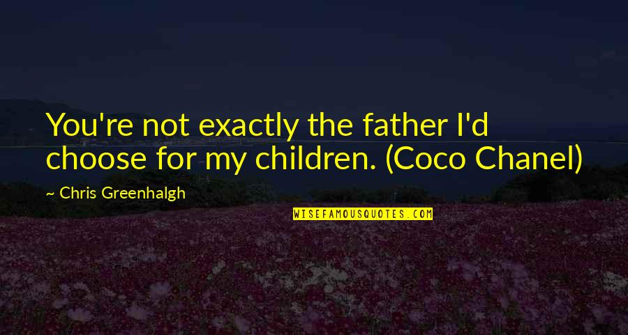 Chris D'elia Quotes By Chris Greenhalgh: You're not exactly the father I'd choose for