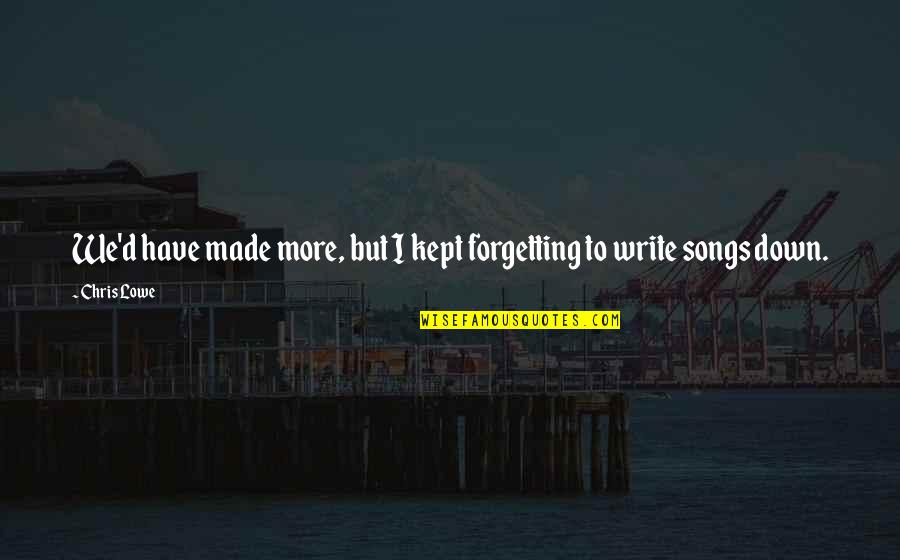Chris D'elia Quotes By Chris Lowe: We'd have made more, but I kept forgetting