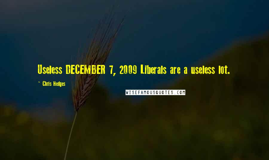 Chris Hedges quotes: Useless DECEMBER 7, 2009 Liberals are a useless lot.