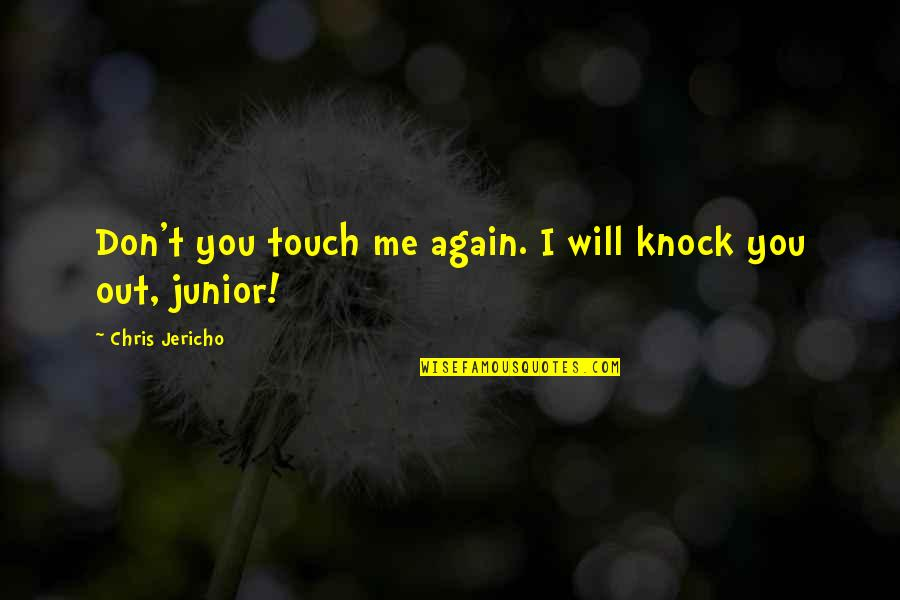 Chris Jericho Quotes By Chris Jericho: Don't you touch me again. I will knock