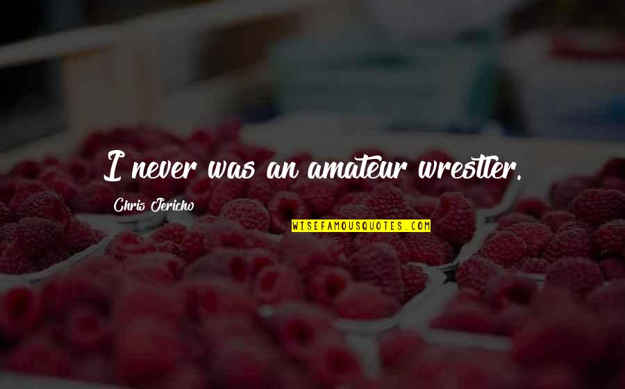 Chris Jericho Quotes By Chris Jericho: I never was an amateur wrestler.
