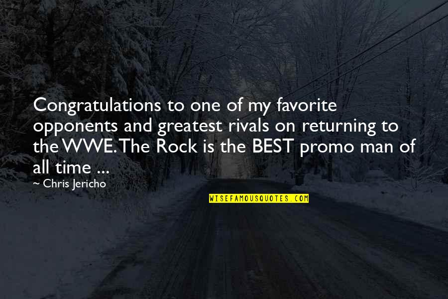 Chris Jericho Quotes By Chris Jericho: Congratulations to one of my favorite opponents and
