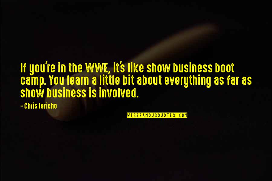 Chris Jericho Quotes By Chris Jericho: If you're in the WWE, it's like show