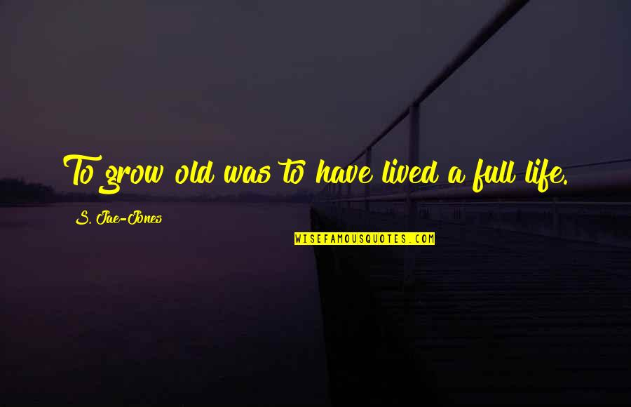 Chris Jones Leg Quotes By S. Jae-Jones: To grow old was to have lived a