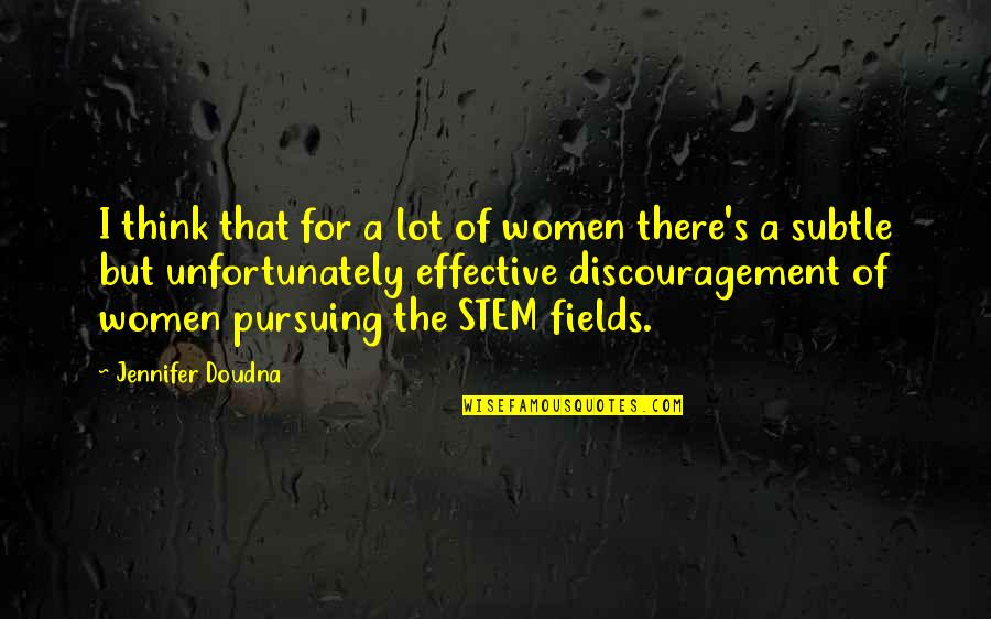 Chris Klug Quotes By Jennifer Doudna: I think that for a lot of women
