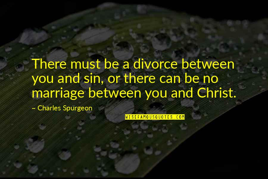 Christ And Marriage Quotes By Charles Spurgeon: There must be a divorce between you and