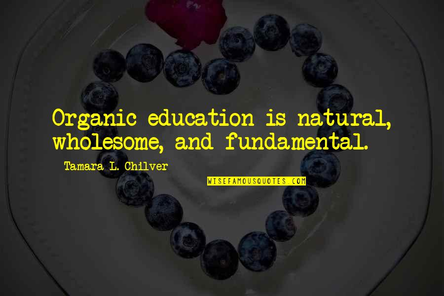 Christian Homeschool Quotes By Tamara L. Chilver: Organic education is natural, wholesome, and fundamental.