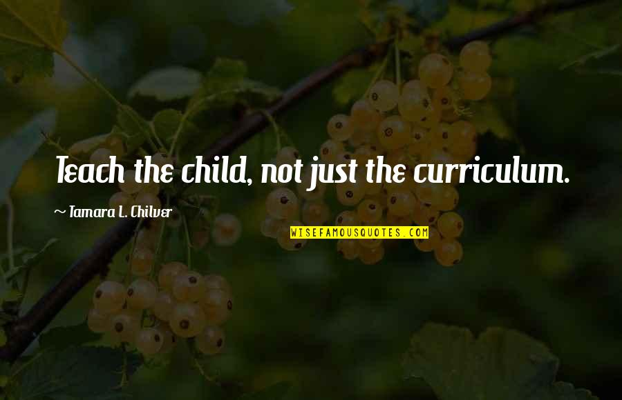 Christian Homeschool Quotes By Tamara L. Chilver: Teach the child, not just the curriculum.