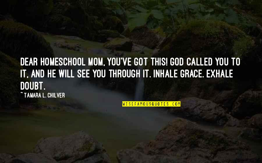 Christian Homeschool Quotes By Tamara L. Chilver: Dear Homeschool Mom, You've got this! God called