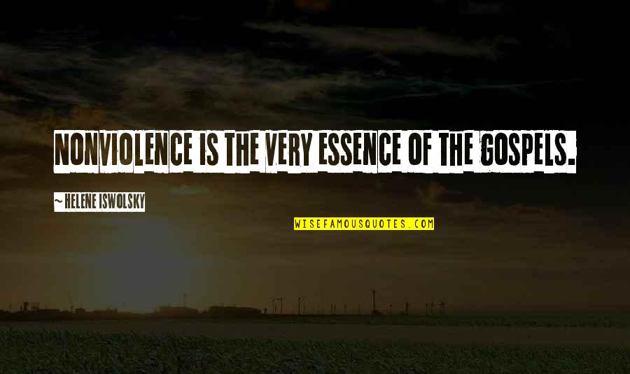Christianity And Peace Quotes By Helene Iswolsky: Nonviolence is the very essence of the gospels.