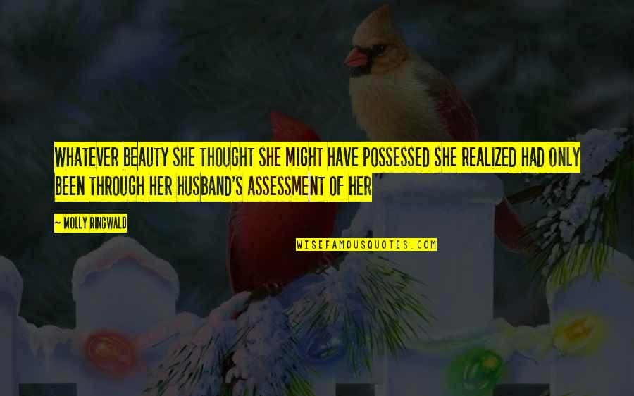 Christmas Song And Movie Quotes By Molly Ringwald: Whatever beauty she thought she might have possessed