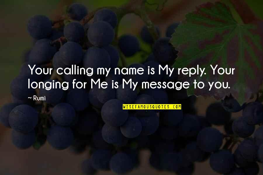 Christmas Time Stress Quotes By Rumi: Your calling my name is My reply. Your