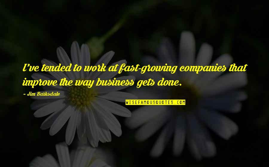 Christmas Wishes Quotes By Jim Barksdale: I've tended to work at fast-growing companies that