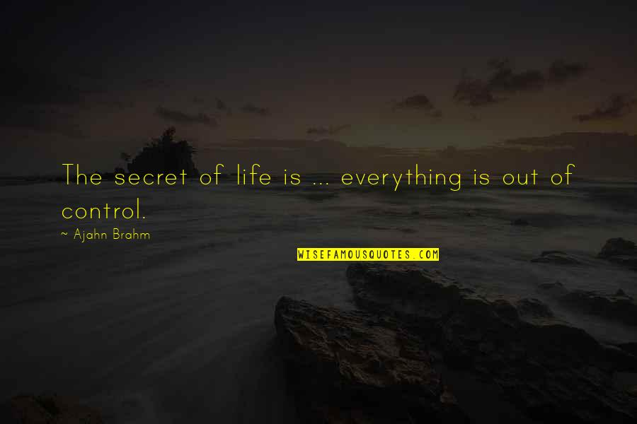 Christoph Blumhardt Quotes By Ajahn Brahm: The secret of life is ... everything is