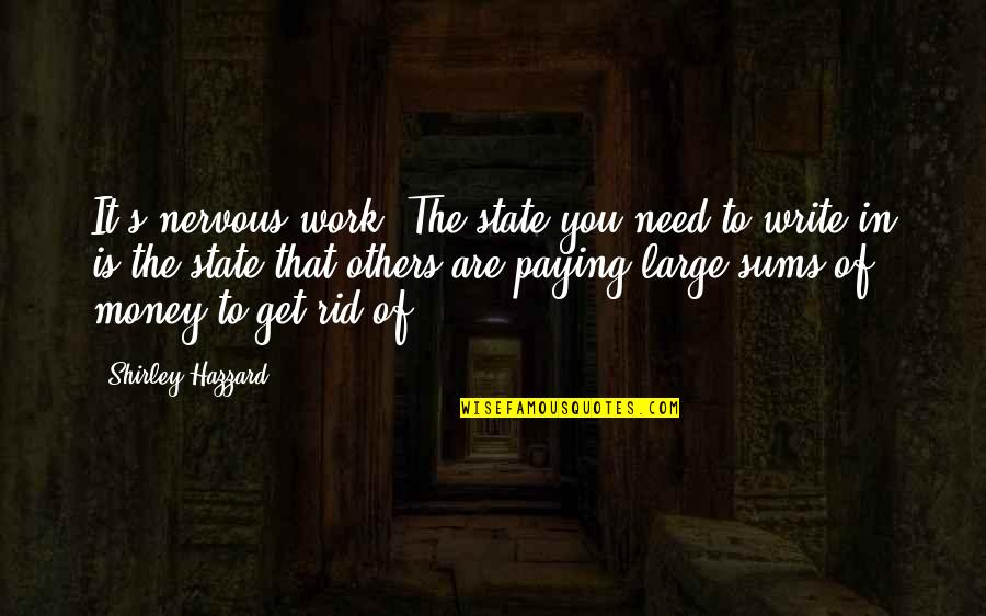 Christoph Blumhardt Quotes By Shirley Hazzard: It's nervous work. The state you need to