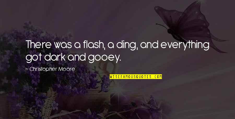 Christopher Moore Quotes By Christopher Moore: There was a flash, a ding, and everything