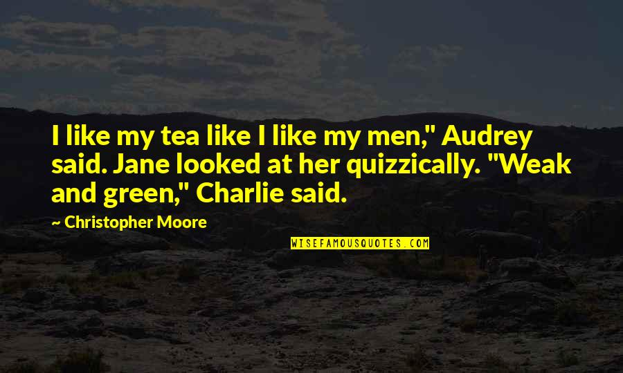 Christopher Moore Quotes By Christopher Moore: I like my tea like I like my
