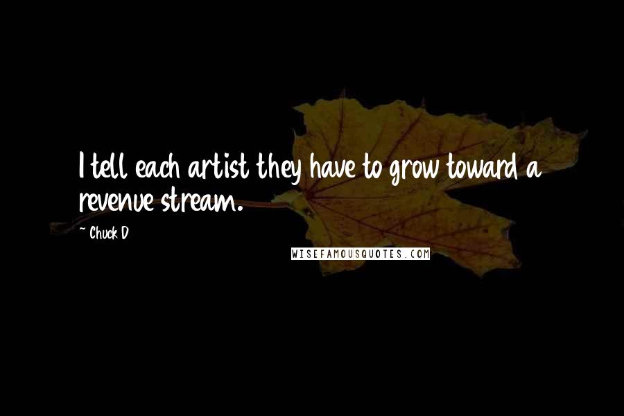 Chuck D quotes: I tell each artist they have to grow toward a revenue stream.