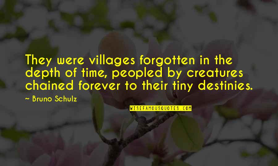 Chuck Danes Quotes By Bruno Schulz: They were villages forgotten in the depth of