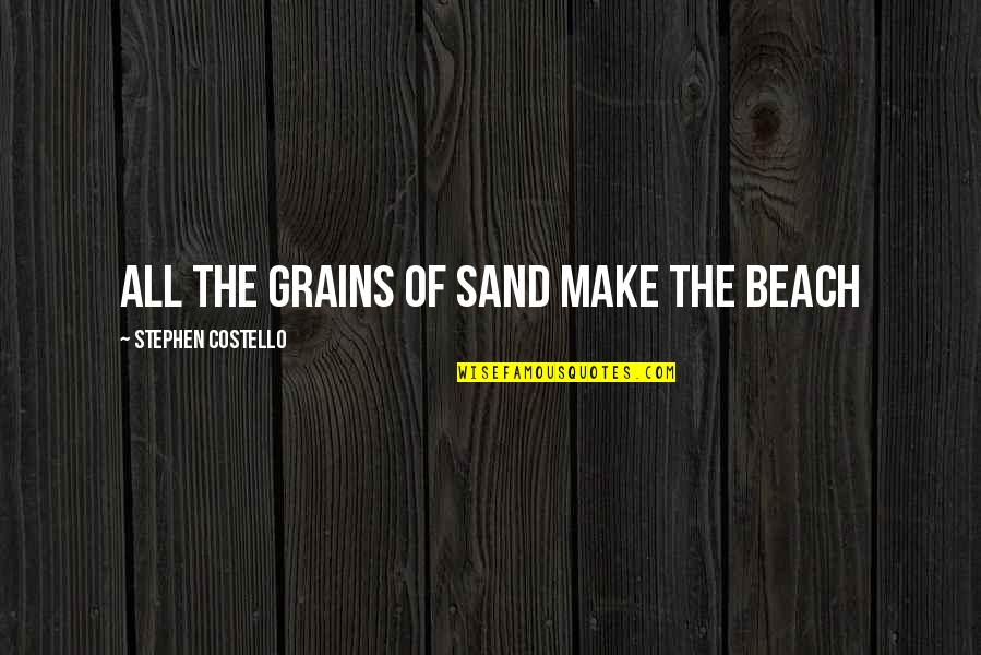 Chuck Noll Quotes By Stephen Costello: all the grains of sand make the beach