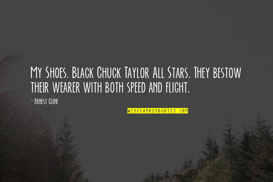 Chuck Taylor Quotes By Ernest Cline: My Shoes. Black Chuck Taylor All Stars. They