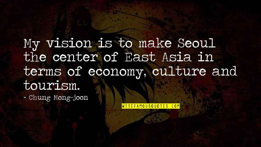 Chung's Quotes By Chung Mong-joon: My vision is to make Seoul the center