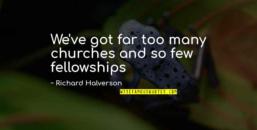 Church Fellowship Quotes By Richard Halverson: We've got far too many churches and so