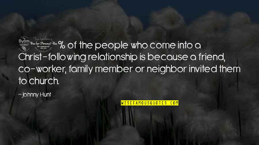 Church Of Christ Quotes By Johnny Hunt: 80% of the people who come into a
