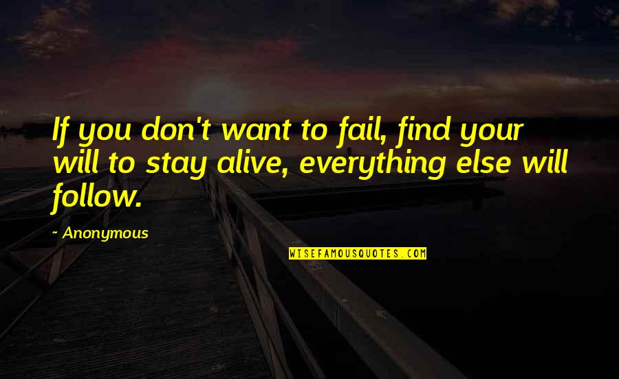 Ciclo Da Vida Quotes By Anonymous: If you don't want to fail, find your