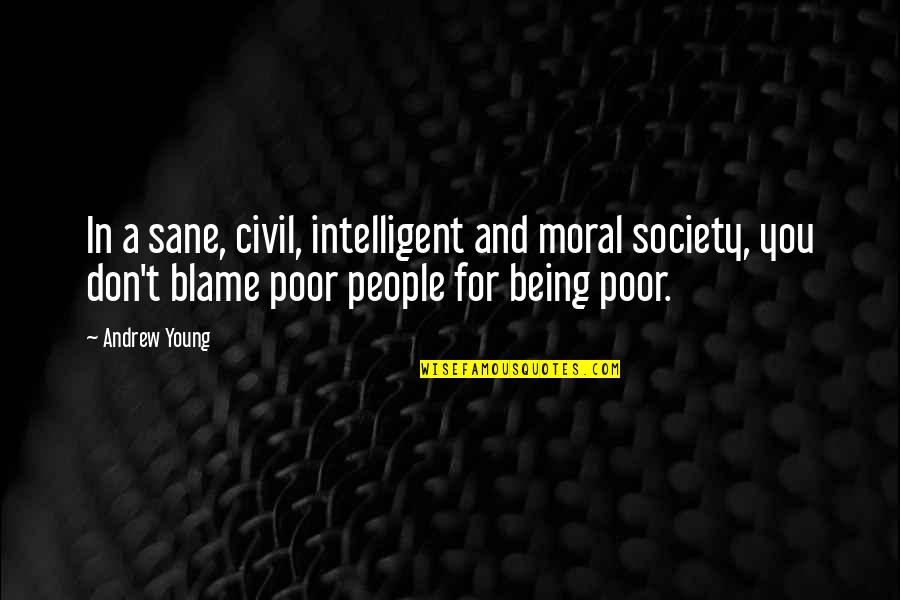 Civil Society Quotes By Andrew Young: In a sane, civil, intelligent and moral society,