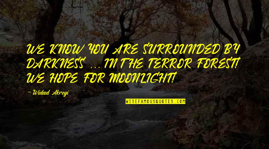 Civil Society Quotes By Widad Akreyi: WE KNOW YOU ARE SURROUNDED BY DARKNESS ...