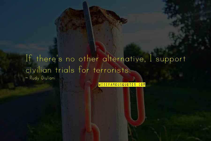 Civilian Quotes By Rudy Giuliani: If there's no other alternative, I support civilian