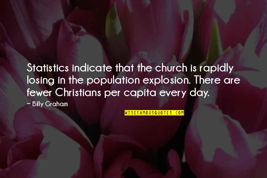 Clarenart Quotes By Billy Graham: Statistics indicate that the church is rapidly losing