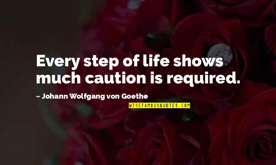 Class Size Quotes By Johann Wolfgang Von Goethe: Every step of life shows much caution is