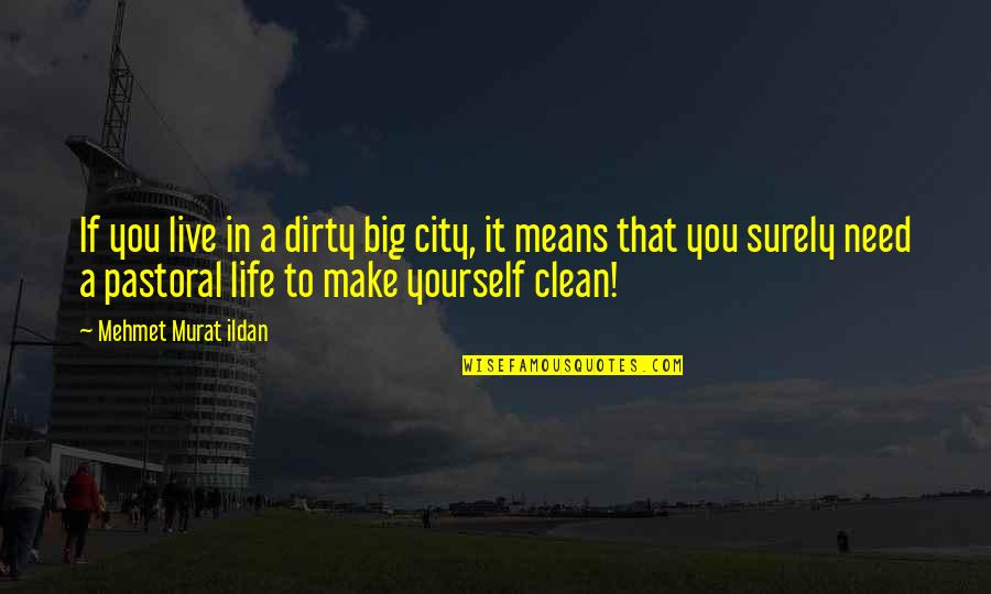 Clean Your Life Quotes By Mehmet Murat Ildan: If you live in a dirty big city,
