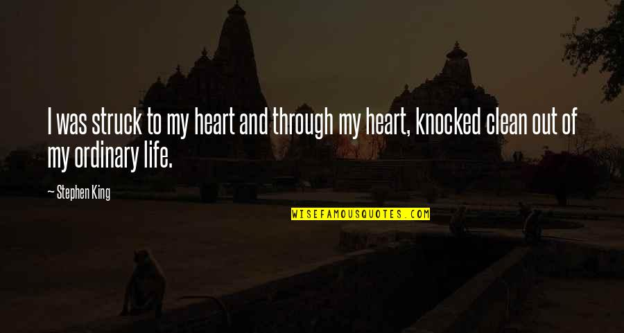 Clean Your Life Quotes By Stephen King: I was struck to my heart and through